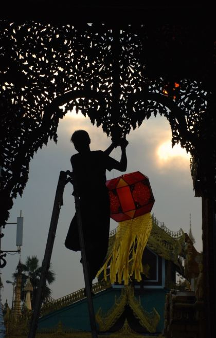 Raising the red lantern
